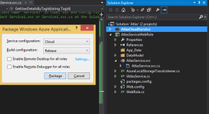 Package dialog