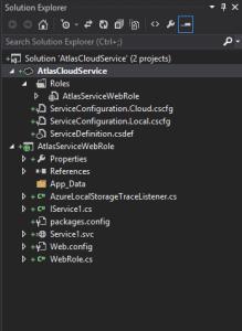 Solution Explorer After adding WCF Service