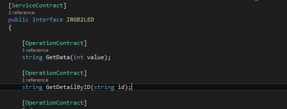 interface class of wcf