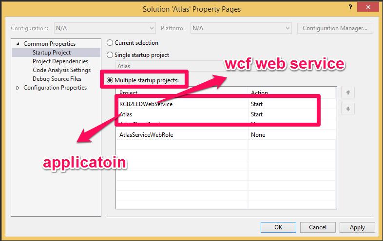 debug wcf web service